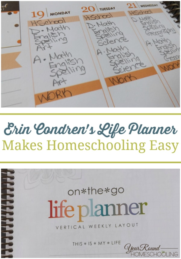 homeschool planning, lesson plan tracking, homeschool lesson plans, homeschool planner, homeschool, homeschooling, Erin Condren Life Planner