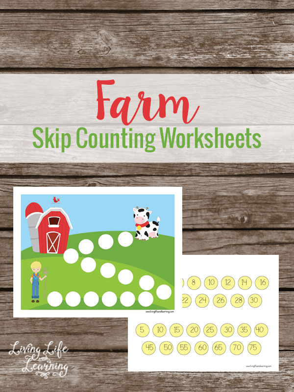 Free Farm Skip Counting Worksheets