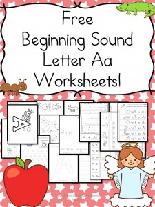 Free Beginning Sound Letter 'a' Worksheets