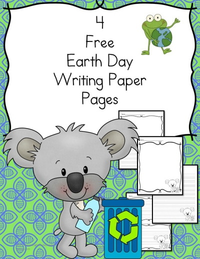 Free earth day writing pack homeschool deals