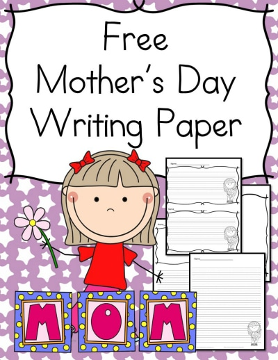 Free Mother's Day Writing Paper for Kindergartners