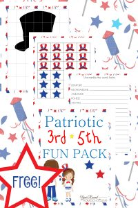 patriotic, elementary school, 3rd-5th grade, independence day, homeschool, homeschooling, worksheets, printable