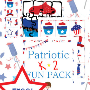 patriotic, K-2, kindergarten, independence day, homeschool, homeschooling, worksheets, printable
