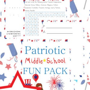 patriotic, middle school, 6th-8th grade, independence day, homeschool, homeschooling, worksheets, printable
