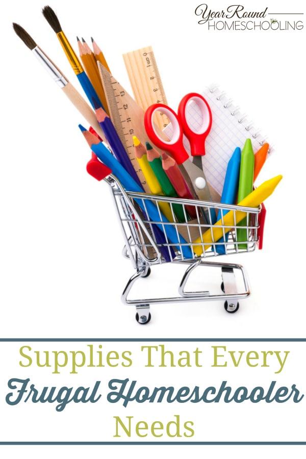 school supplies, frugal homeschool, frugal homeschooling, homeschool, homeschooling
