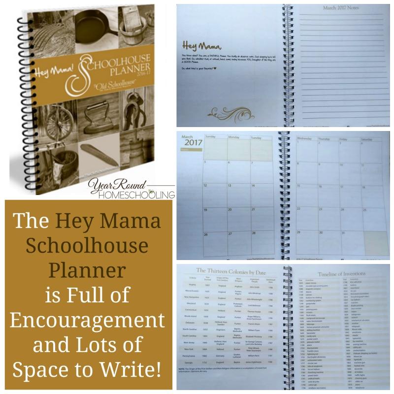 Hey Mama Schoolhouse Planner, homeschool planner, schoolhouse planner