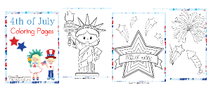 4th of July Coloring Pages + Patriotic Unit Study Resources
