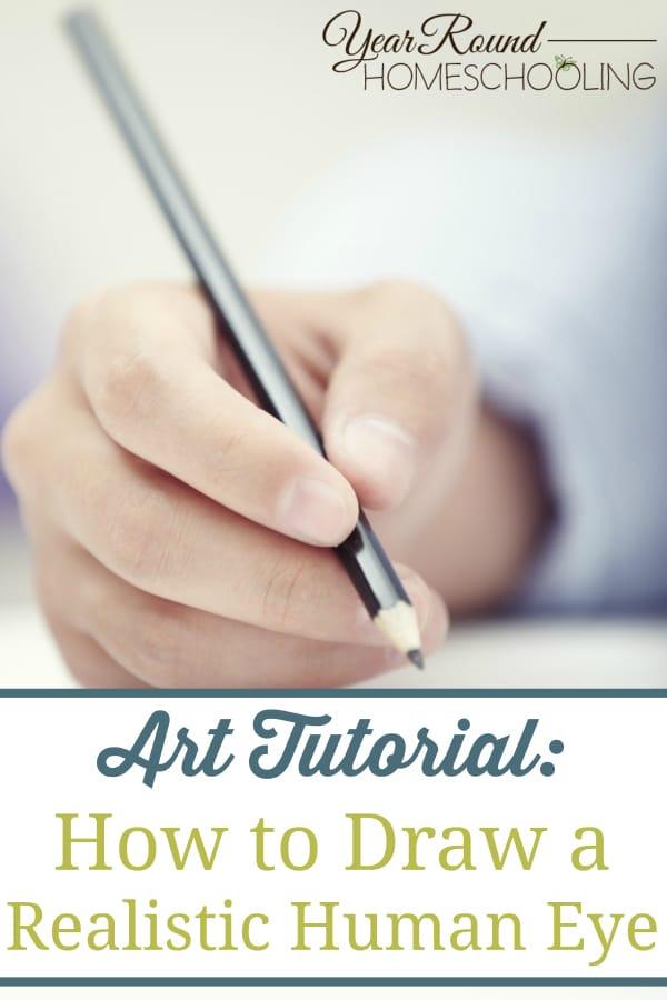 how to draw the human eye, human eye art lesson, art tutorial, art lesson, art, homeschool, homeschooling