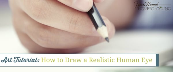how to draw the human eye, human eye art lesson, art tutorial, art lesson, art, homeschool, homeschooling