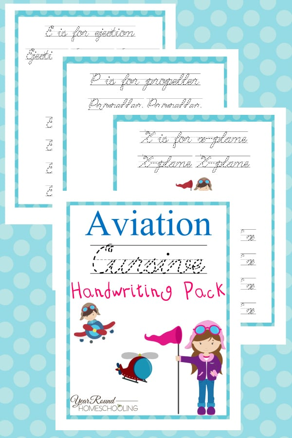 Aviation Cursive Handwriting Pack