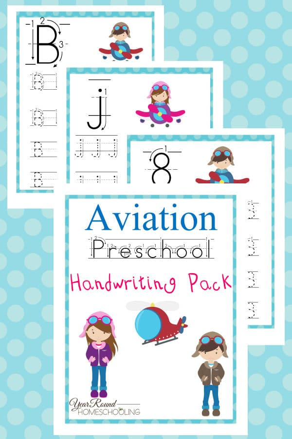 aviation prek handwriting, prek handwriting, preschool handwriting, preschool, prek, handwriting, aviation, printable, worksheets