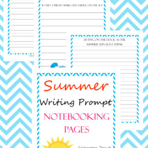 summer writing prompts, summer writing, writing prompts, notebooking, writing, homeschool, homeschooling, worksheets, printable