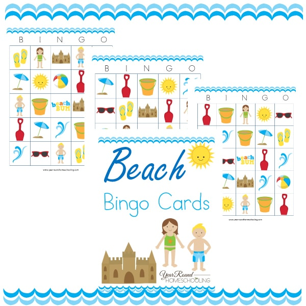 Printable Beach Bingo Cards
