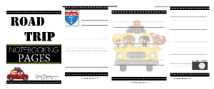 Road Trip Notebooking Pages + Road Trip Unit Study Resources