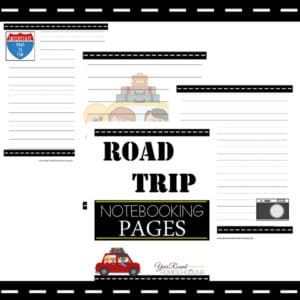 road trip notebooking pages, road trip notebooking, road trip printables, notebooking pages, notebooking,writing, homeschool, homeschooling, worksheets, printable