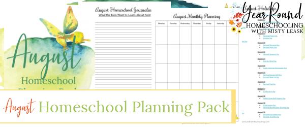 august homeschool planning pack, august homeschool planning, homeschool planning august