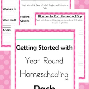 getting started with year round homeschooling, start year round homeschooling, year round homeschooling help