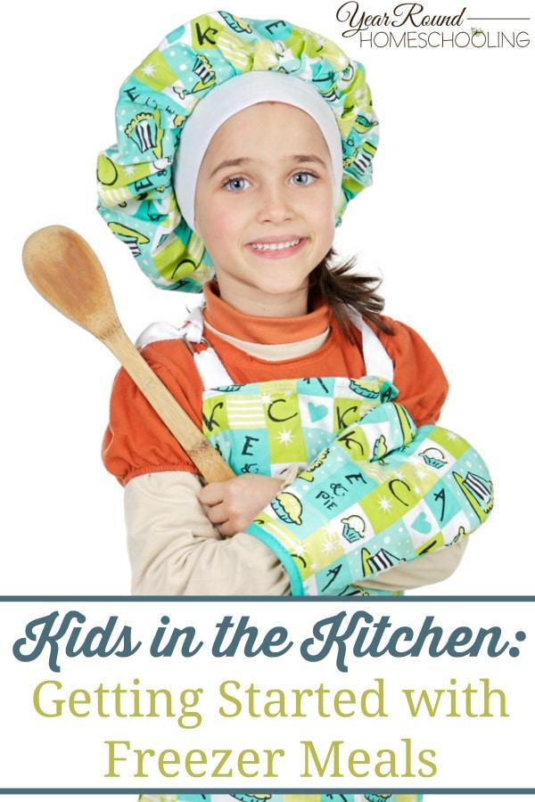 kids in the kitchen, freezer meals, home ec