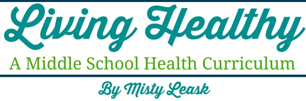 middle school health, living healthy, healthy living, middle school health curriculum, middle school homeschool health curriculum, health curriculum, homeschool health curriculum