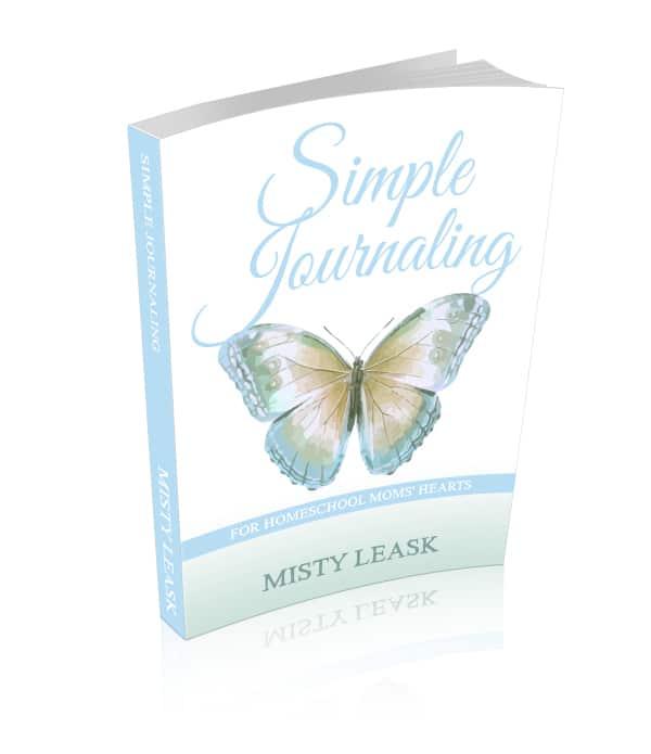 simple journaling, journal for homeschool moms, homeschool moms journal