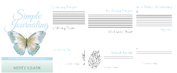 simple journaling, journal for homeschool moms, homeschool moms jo