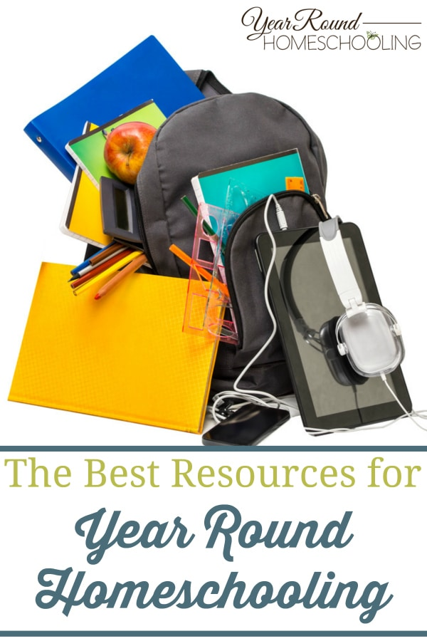 resources for year round homeschooling, year round homeschooling resources, homeschool resources