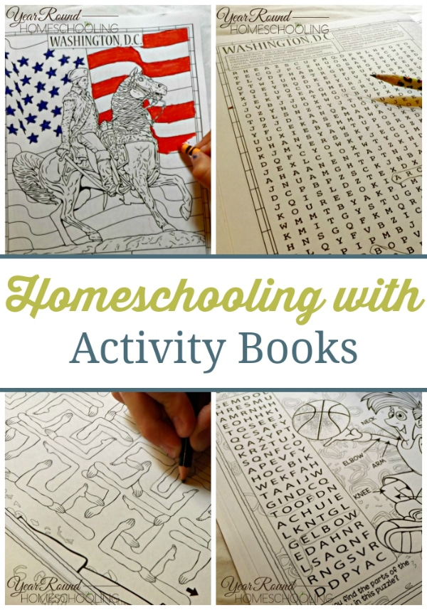 themed activity books, activity books, activity books for homeschooling