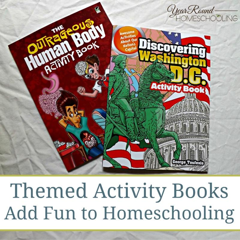 themed activity books, activity books, activity books for homeschooling