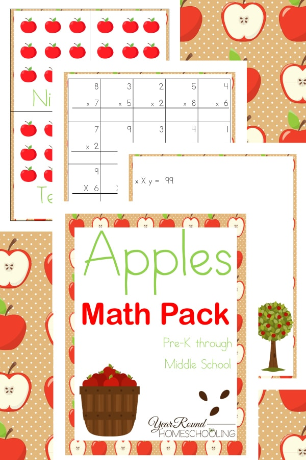 Apples Math Pack (PreK-Middle School)