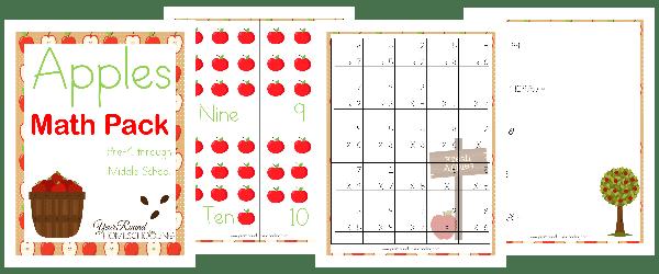 Apples Math Pack