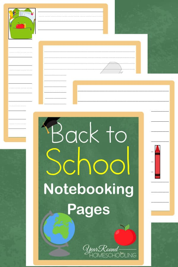 back to school notebooking, school notebooking, notebooking pages