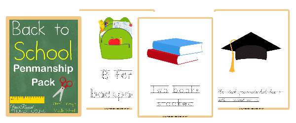 Back to School Penmanship Pack