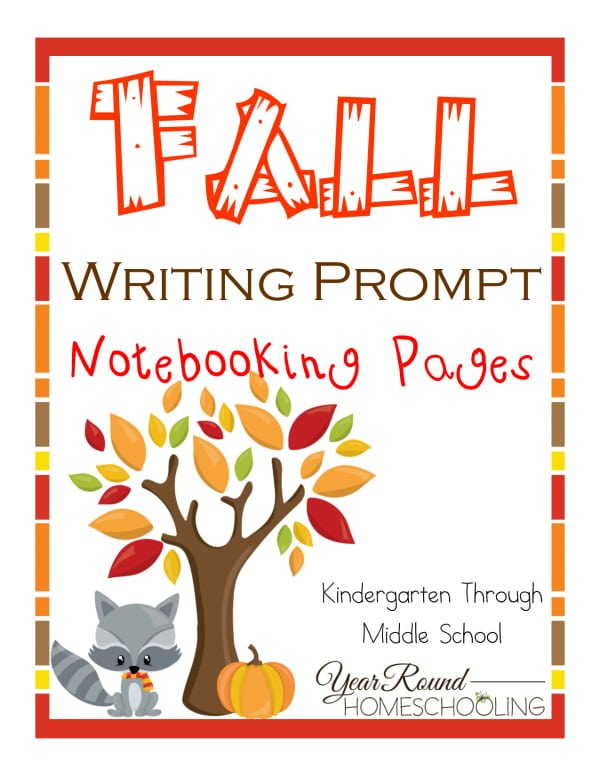 fall writing prompts, fall notebooking pages, writing prompts. notebooking pages