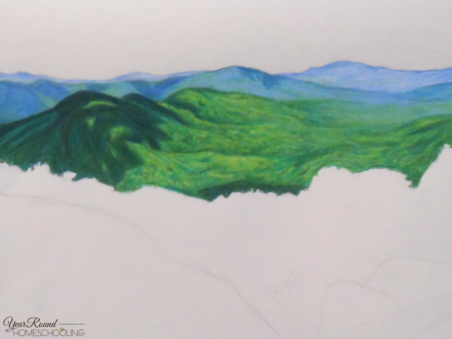 How To Draw Landscapes With Colored Pencils Year Round Homeschooling