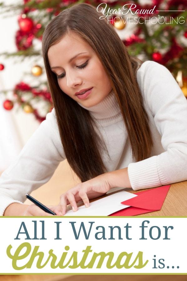 want for Christmas, Homeschool mom Christmas wants, homeschool christmas