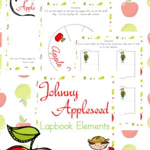 johnny appleseed lapbook, johnny appleseed