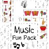 music bingo, music matching game, music coloring pages, music puzzles, music printables