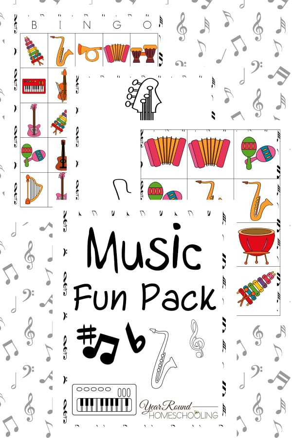 picture about Musical Bingo Cards Printable named Songs Entertaining Pack - 12 months Spherical Homeschooling