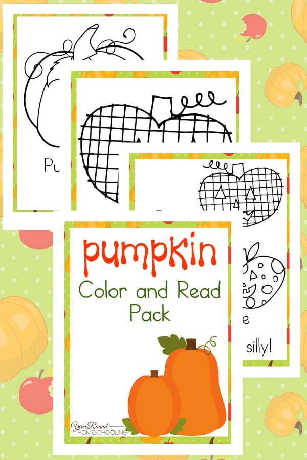 Pumpkin Color & Read Pack