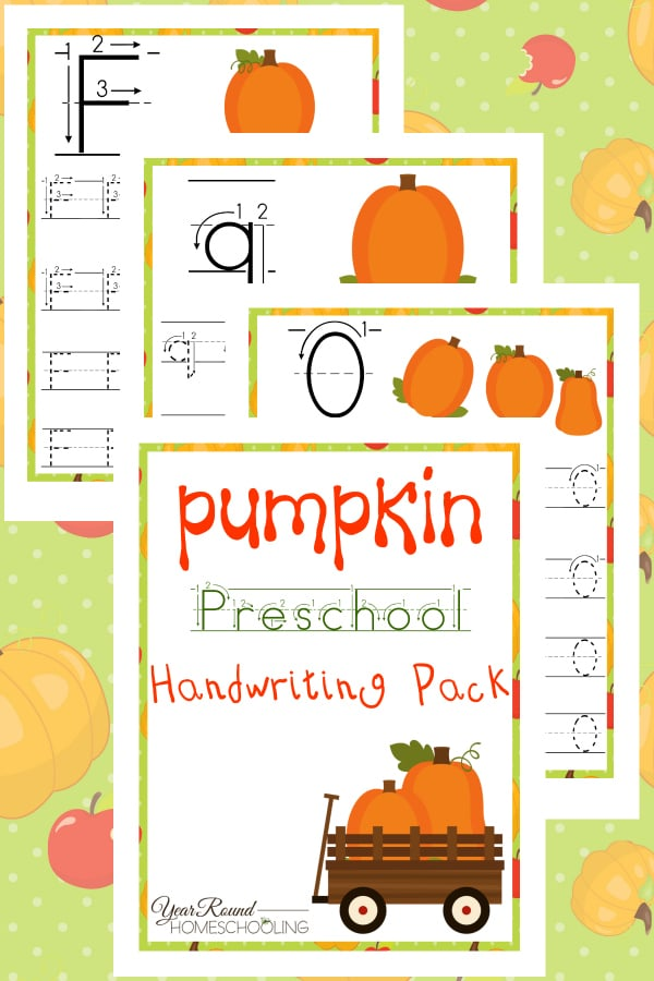 Pumpkin PreK Handwriting Pack