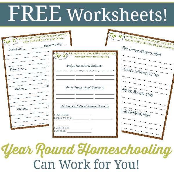 Year Round Homeschooling Worksheets - Year Round Homeschooling