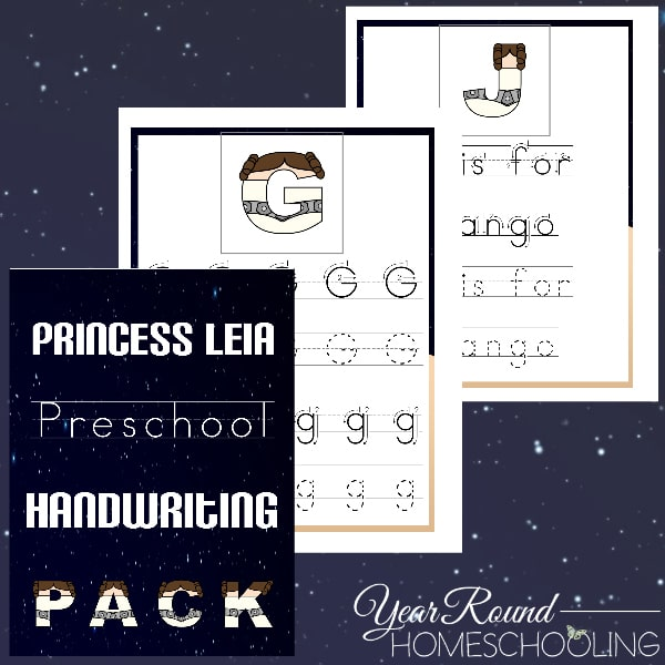 Princess Leia Preschool Handwriting Pack