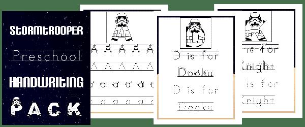 Stormtrooper Preschool Handwriting Pack + Bonus Pack