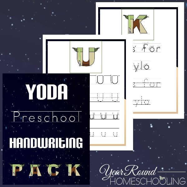 Yoda Preschool Handwriting Pack