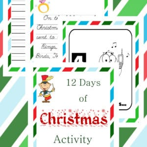 12 days of Christmas activity book, 12 days of Christmas activity, 12 days of Christmas, Christmas Activity Book, Christmas Activity
