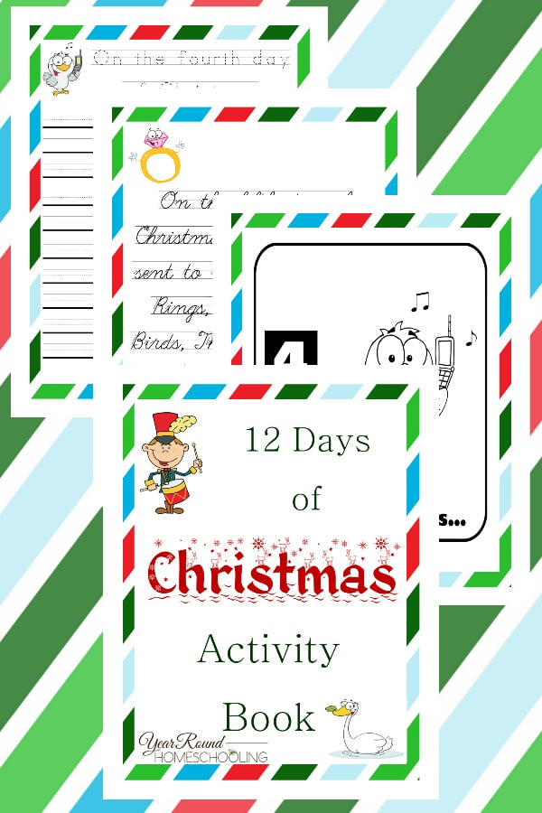 12 days of christmas activity book year round homeschooling. Black Bedroom Furniture Sets. Home Design Ideas