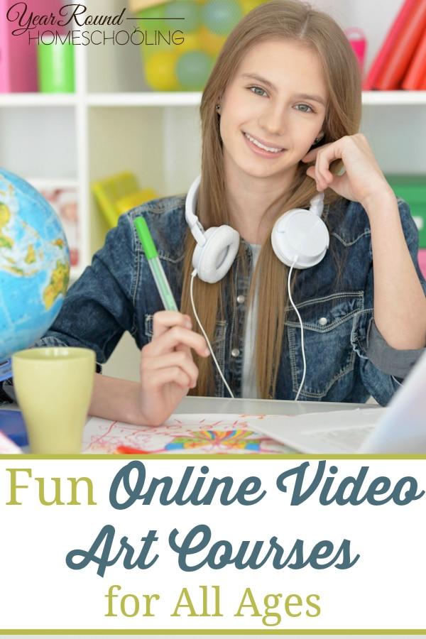 online video art courses, video art courses, online video art, online art courses, art courses, homeschool art, art classes online, online art classes