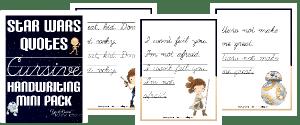 Star Wars Cursive Handwriting Mini Pack