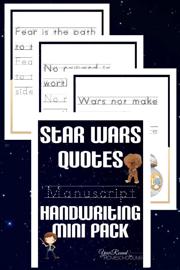 Star Wars Manuscript Handwriting Mini Pack