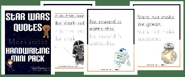 Star Wars Manuscript Handwriting Mini Pack